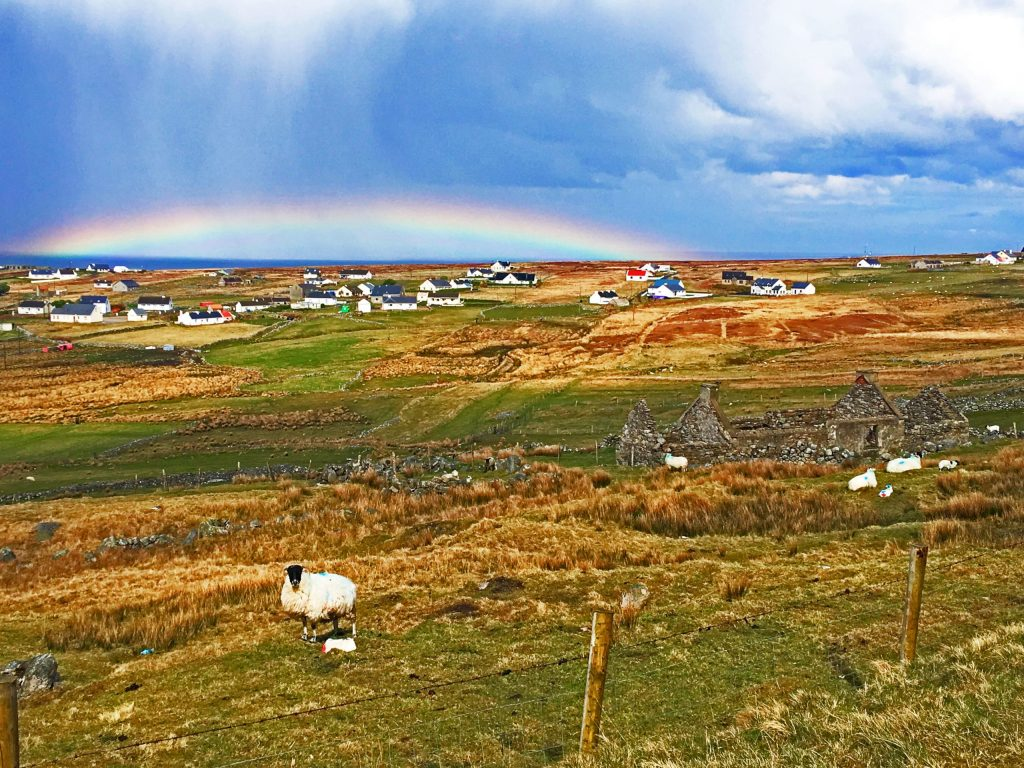 Irish rainbow scene