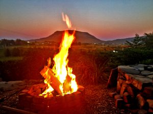 Fire Pit and Muckish Mountain View