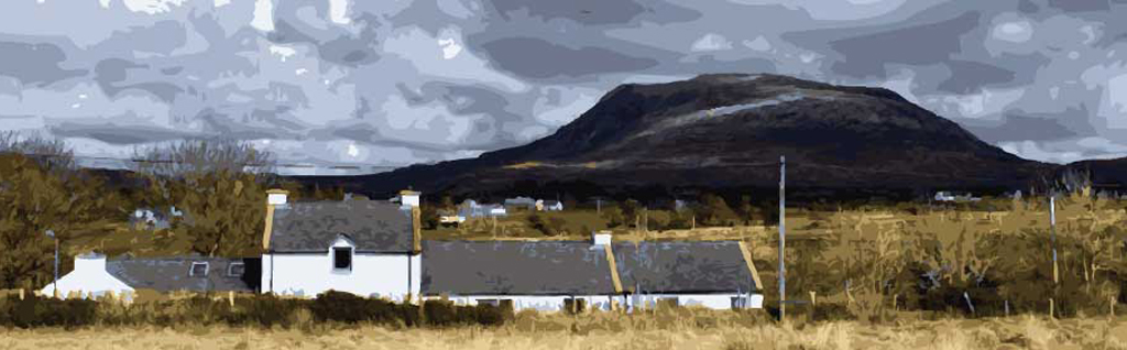 The Song House beneath Muckish Mountain Co. Donegal Ireland