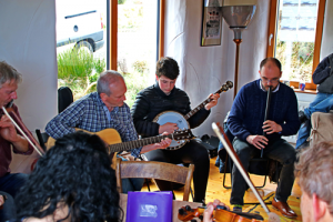 Traditional session at the Song House Donegal